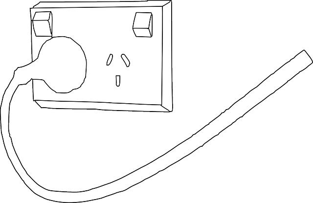 schéma zástrčky v zásuvce